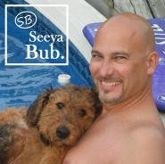 dad-and-lucy-poolside-with-sb-logo
