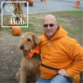Dad and Lucy at Pumpkin Patch