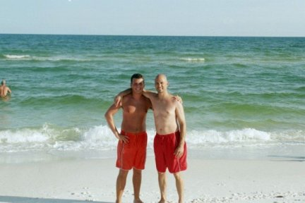 Dad and I At the Beach