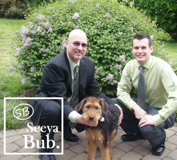 Dad Lucy and Me with Seeya Bub Logo