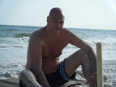 Dad on the Beach