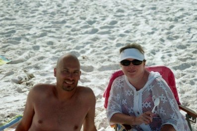 Mom and Dad at Beach