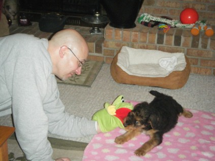 Dad with Baby Lucy