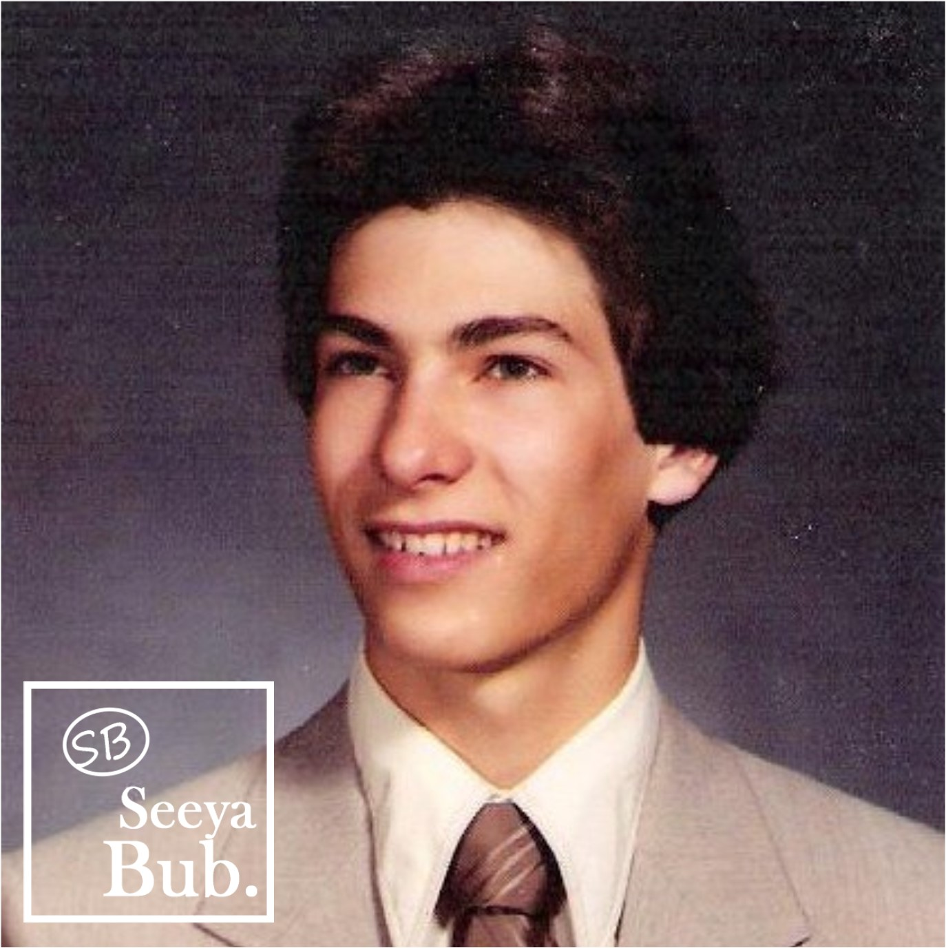 Dad HS Yearbook Photo with SB Logo