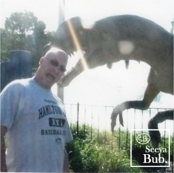 Dad with Dinosaur and SB Logo